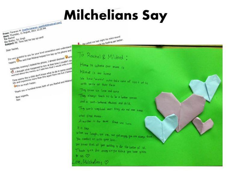 Milchelian Says